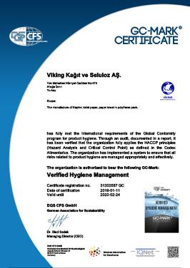 Hygienic Product-GC MARK Certificate