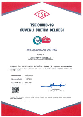 TSE COVID -19 SAFE PRODUCTION CERTIFICATE